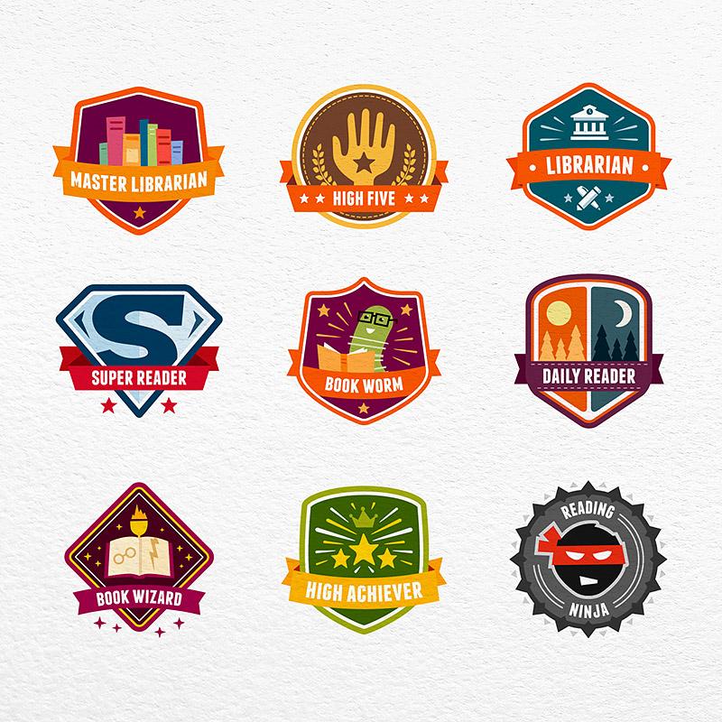 BookWhiz Achievement Badges